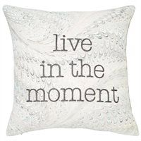 """Expressions Marbled Live in the Moment Pillow Cover – 18"""" x 18"""""""