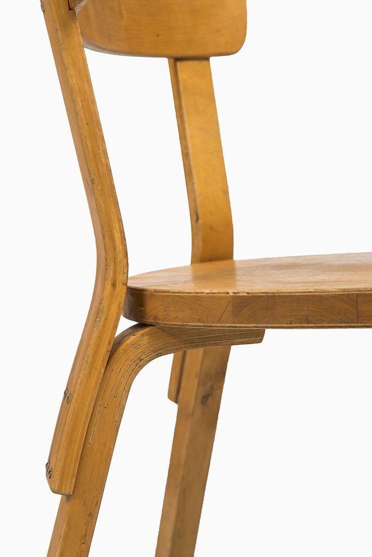 Alvar Aalto dining chairs model 69 by Artek at Studio Schalling