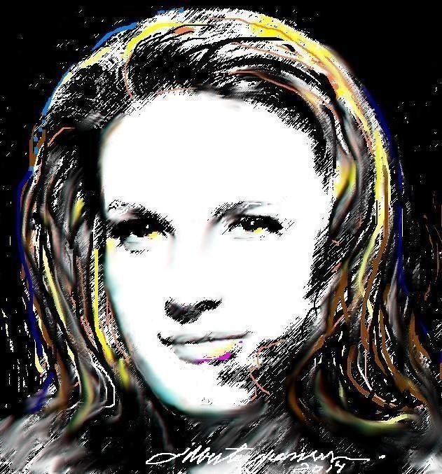 Retrato da Atriz Brasileira ELAINE CRISTINA - 2014 - Digital Art