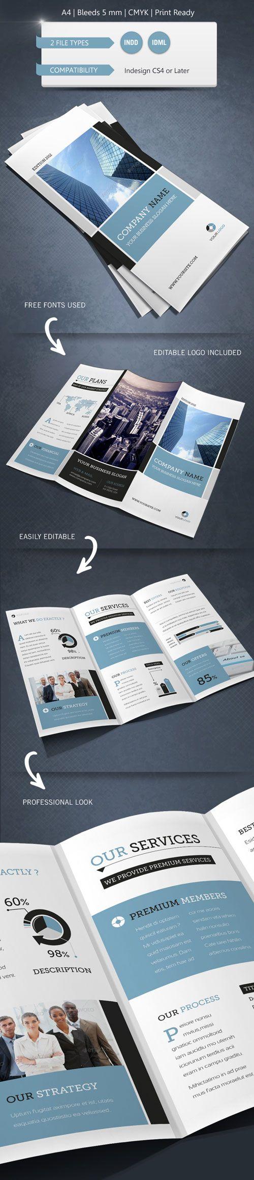 modern brochure design inspiration - 17 best tri fold brochure inspiration images on pinterest