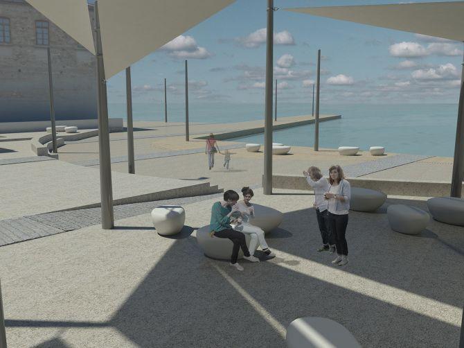 Open architectural competition for Katehaki Square design | Landscape architecture team members: Pamfili Charamidopoulou, Margarita Dendrinou, Maria Kaxira, Efthimia Koutsaftaki, Petroula Sepeta