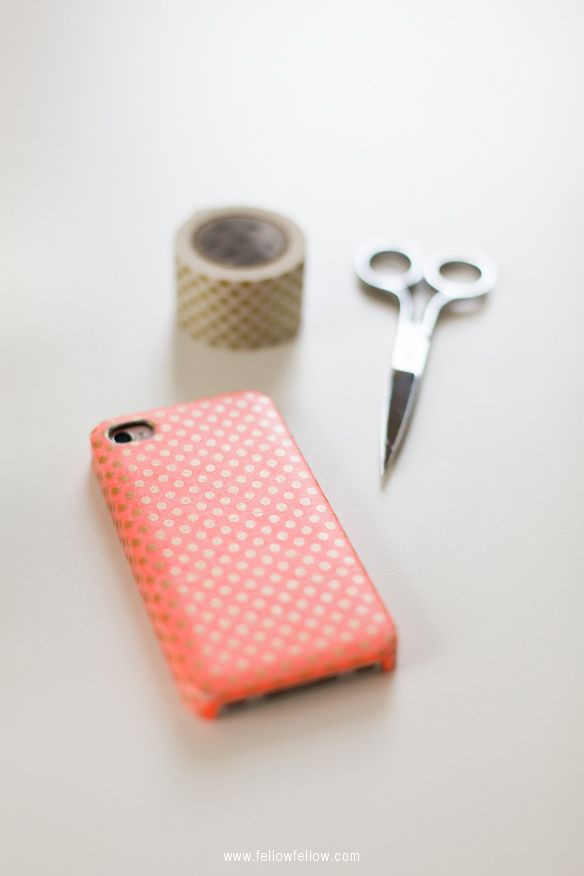 Washi tape phone case crafts diy project ideas for Washi tape phone case