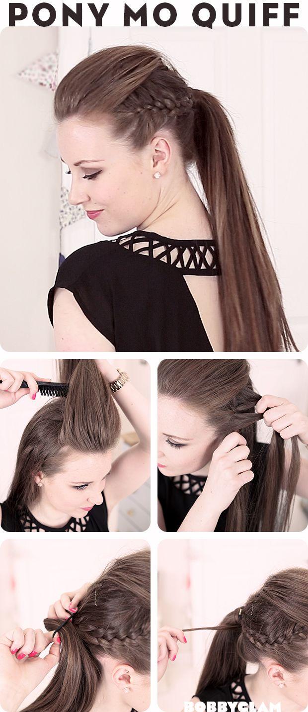 Mohawk Quiff Ponytail Hair Tutorial | hairstyles tutorial