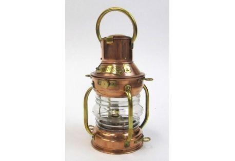 Copper Ship Light Anchor Lamp with Oil Burner