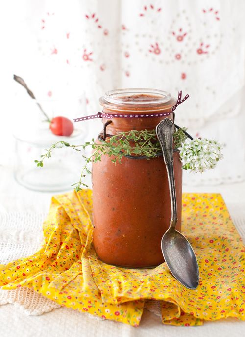 Gazpacho with Lemon Thyme and Smoked Paprika at Cooking Melangery
