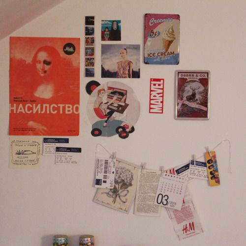 BE YOUR OWN HERO - artplxnt: i redecorate my walls too often