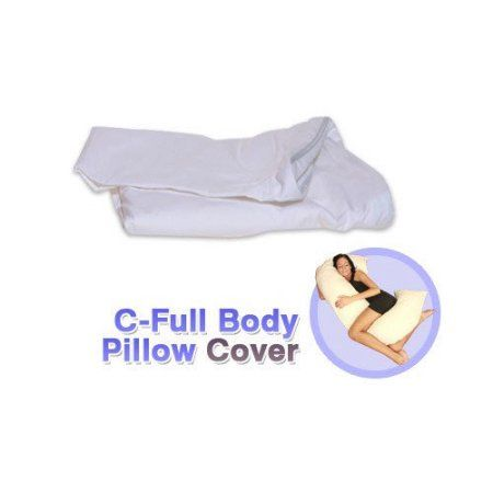 Living Healthy Products Cpilc 002 01 C Full Body Pillow Cover In White