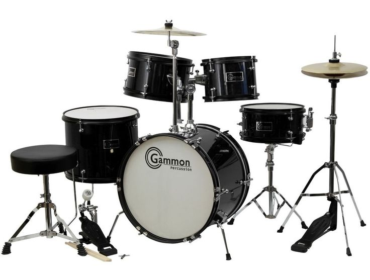 New Black Drum Set 5 Piece Junior Complete Child Kids Kit with Stool Sticks  sc 1 st  Pinterest & 20 best Drum Sets images on Pinterest | Drums Percussion and ... islam-shia.org