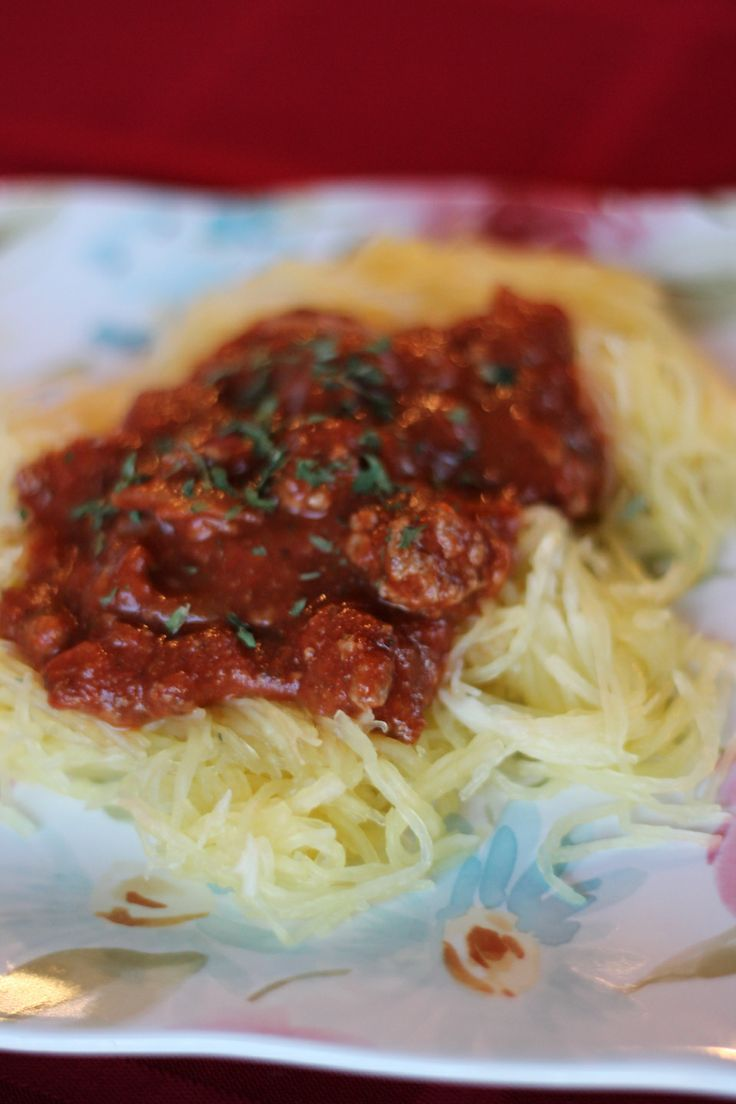 Spaghetti Squash with Meat Sauce | My Blue Heaven Home -Blog | Pinter ...