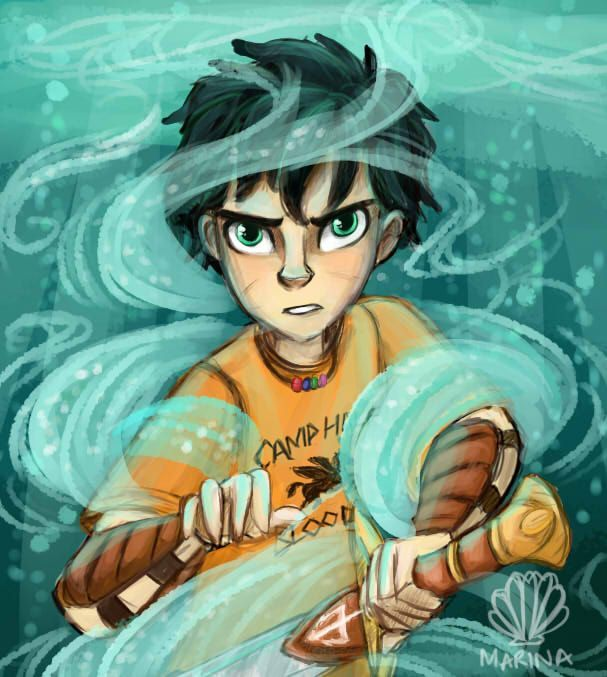 Percy Jackson drawing
