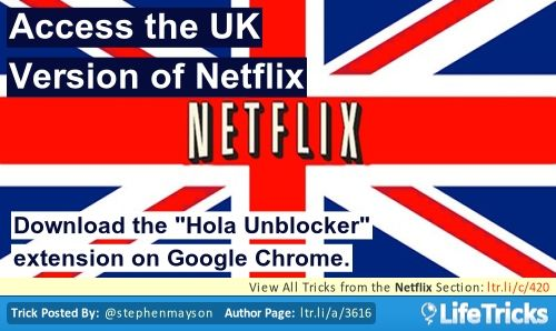 """Download the """"Hola Unblocker"""" extension on Google Chrome."""