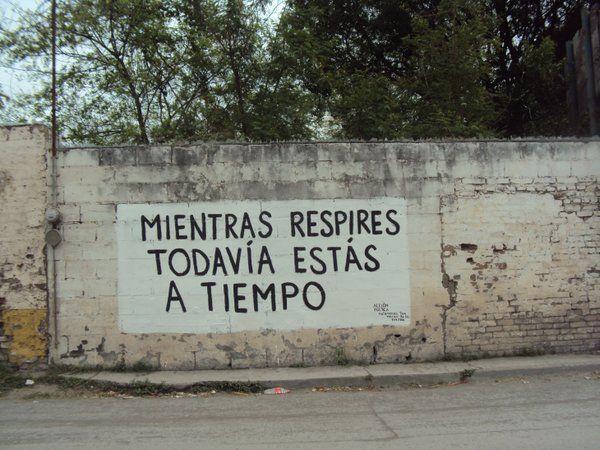 Mientras respires todavía estas a tiempo  #accionpoetica #poetica