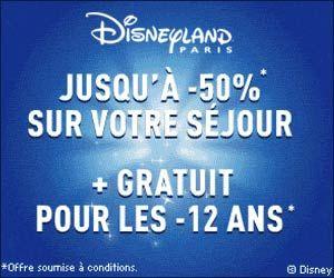 Vente Flash DisneyLand : retour de la promo jusqu'à -50% sur les séjours de 2 à 4 jours et la gratuité pour les enfants en dessous de 12 ans