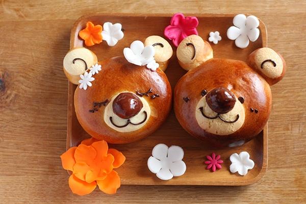happy bear marron cream bread w/ recipe