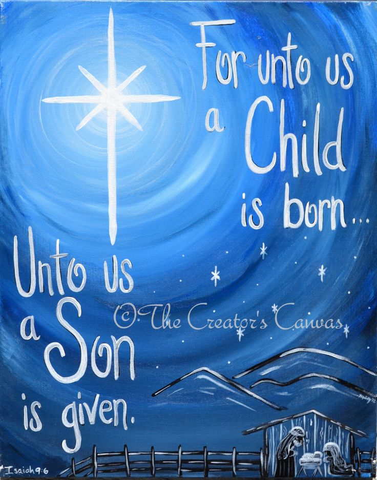 """Christmas Star Nativity Painting, """"Prophecy Fulfilled"""", Custom Canvas Scripture, Bible Verse, Holiday Decor by TheCreatorsCanvas on Etsy https://www.etsy.com/listing/113016002/christmas-star-nativity-painting"""