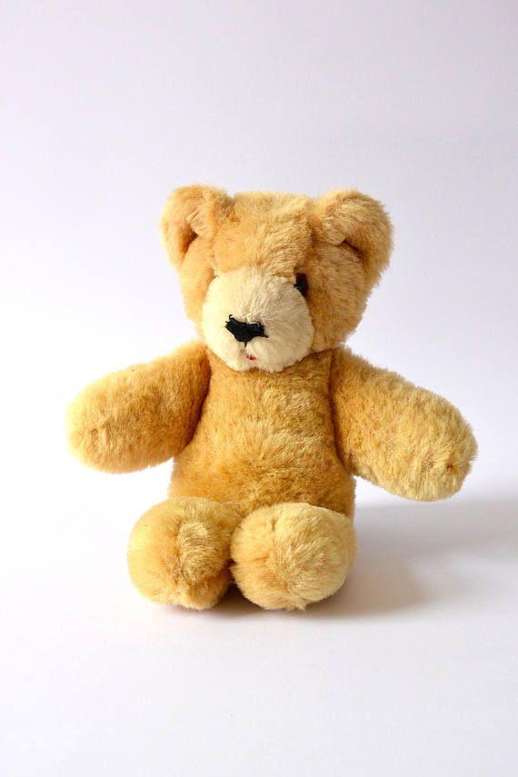 Vintage mohair teddyberen, Shanghai poppen fabriek teddy bear, Pure wol teddybeer, Vintage beer uit 50s of 60s