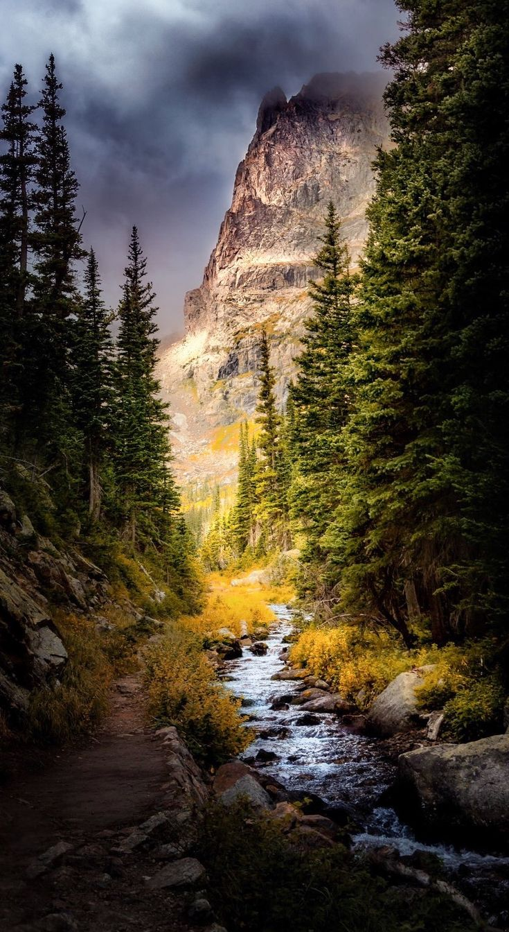 Ominous Skies on the Fern Lake Trail (Colorado) by Dean Fikar / 500px