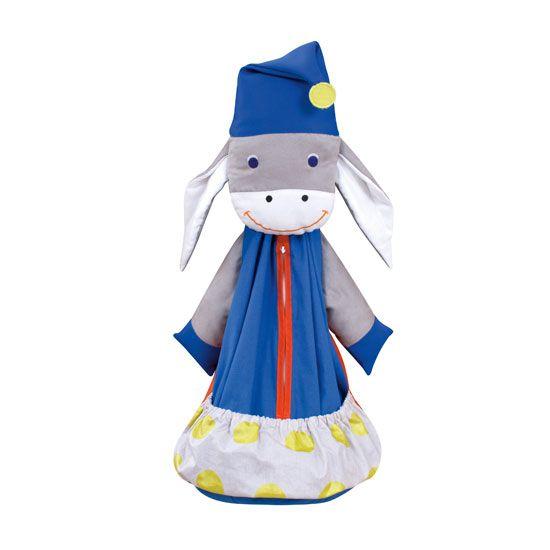 Donkey pyjama bag ... created in France for children to treasure.  http://www.spiritedmama.com