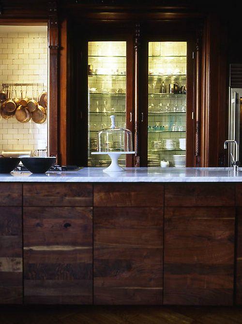 17 Best Ideas About Dark Wood Kitchens On Pinterest
