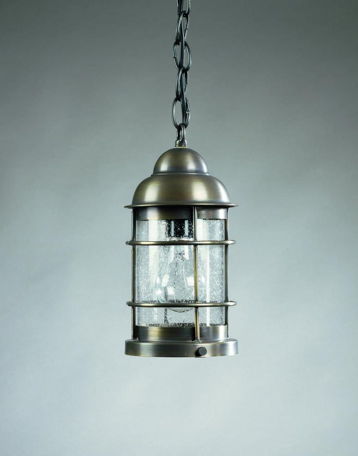 Nautical Brass Pendant Lighting Nautical Hanging Dark Antique Brass Medium Base Socket Clear Glass