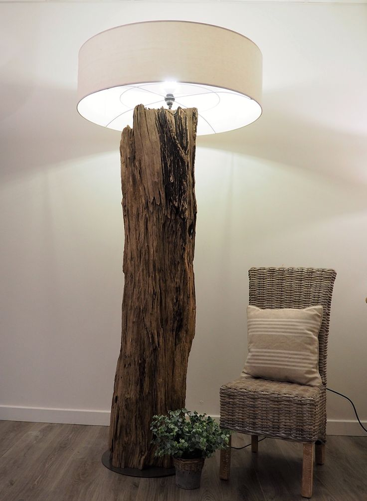 This Rustic high floor lamp is a