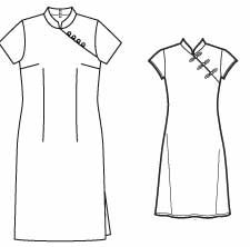 free cheongsam patterns from sewingplum's blog.