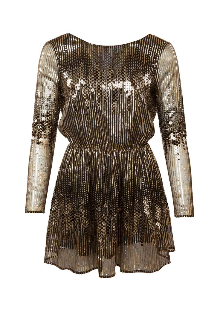 GIZELLE DRESS GOLD, view-small | IvyRevel