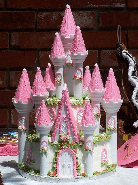 castle cake   Wilton Princess Castle Birthday Cake   Flickr - Photo Sharing!
