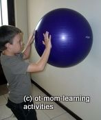 shoulder exercises for kids (and me) to help stamina and writing/cutting other fine motor