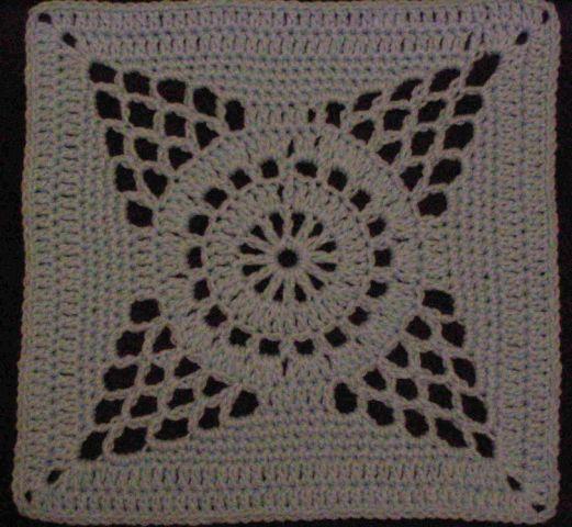 Chris Simon's Supernova pattern - 12 inch crochet square