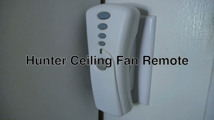 Hunter Ceiling Fan & Light Remote Control Model 27185