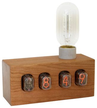 Nixie Sunrise Alarm Clock midcentury-alarm-clocks $355. ~ETS #alarmclock #lettherebelight