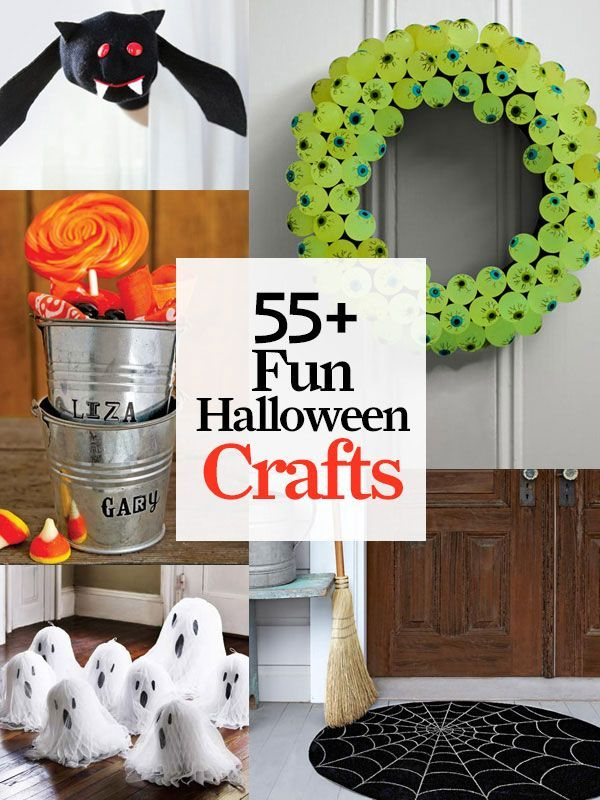 55 chilling--and eerily easy--Halloween craft ideas: http://www.countryliving.com/crafts/projects/best-halloween-crafts-ever