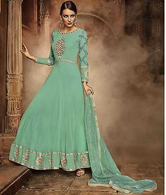Designer Anarkali Pakistani Salwar Kameez Suit Traditional Indian Bollywood