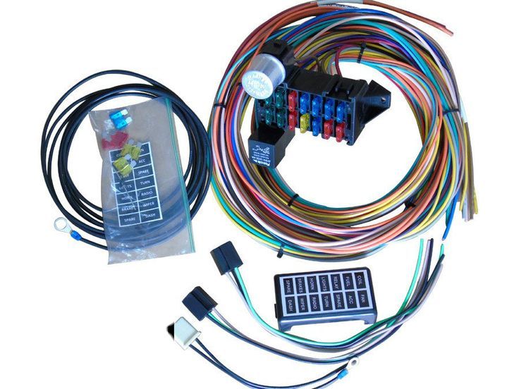 Featured Product Of The Day    New 14 Circuit Basic Wire Kit Small Wiring Harness Rat Street Rod