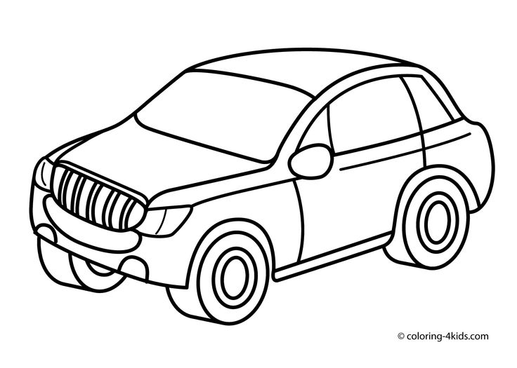 Jeep car transportation coloring