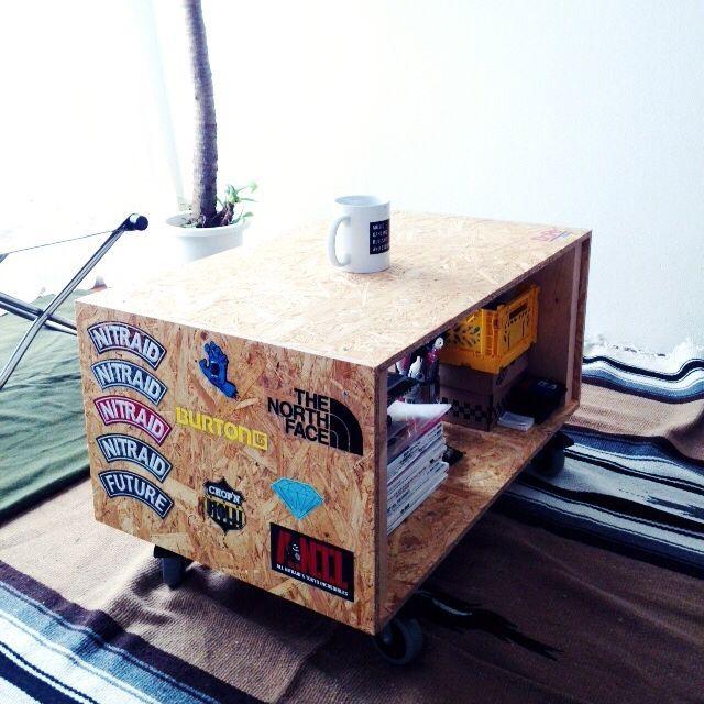 1,000 件以上の 「シナ合板」のおしゃれアイデアまとめ|Pinterest ... ay-kasa/OSB合板/ステッカー/ローテーブル/DIY/リビング…