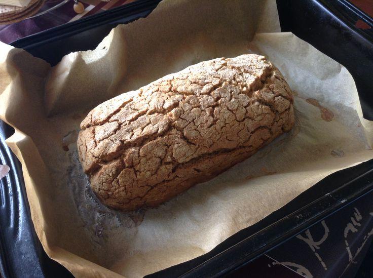 Potato bread! Buckwheat flour, potatoes, salt, cumin, vinegar, baking soda!