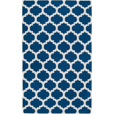 Artistic Weavers - Taillades Royal Blue Wool Area Rug - 5 Feet x 8 Feet - Taillades-58 - Home Depot Canada