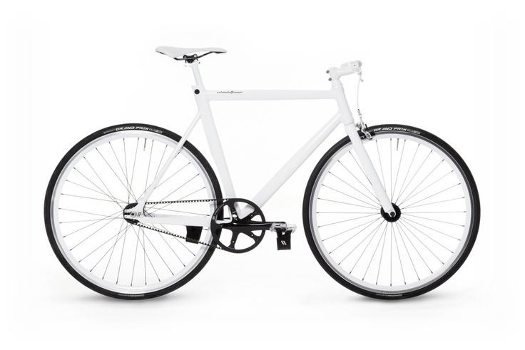 All white errthang bike