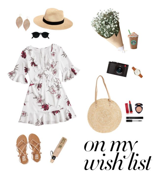 """santai"" by saraisyi on Polyvore featuring Leica, Madewell, BP., Moschino, Billabong, Max Factor, Forever 21 and Humble Chic"