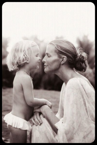 sometimes children are their most beautiful natural.  moms too.