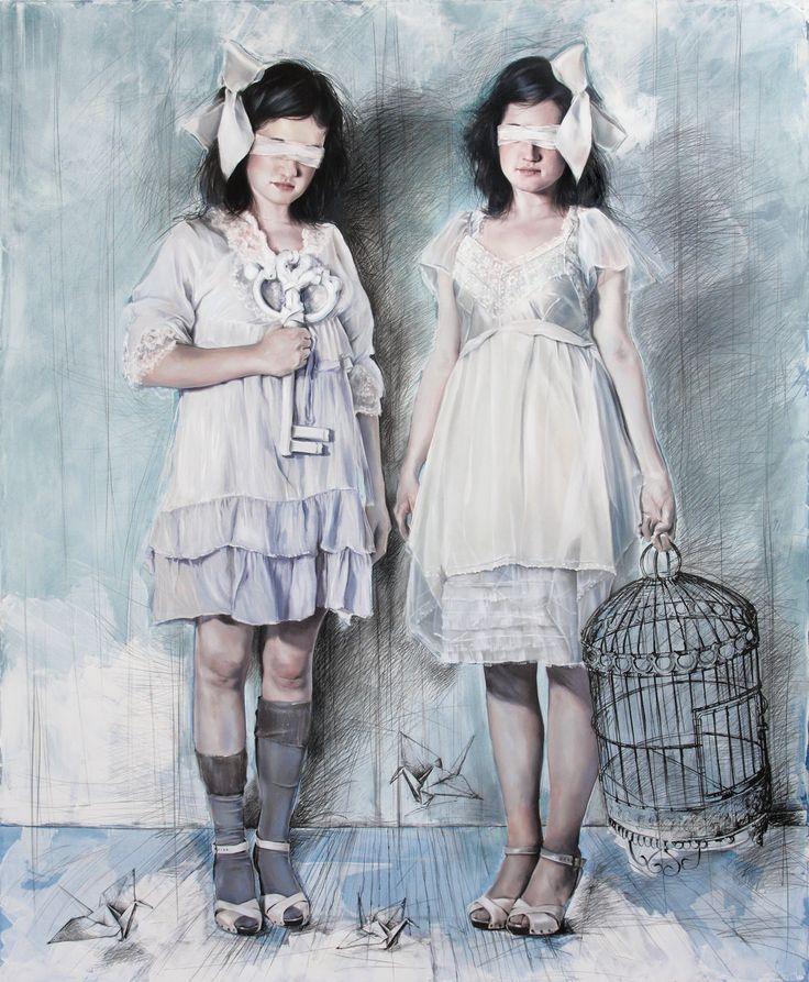 Elisa Anfuso - Solitud-es n.1 Olio e pastelli su tela, cm 100x120, 2010