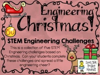 Get ready to engineer all things Christmas (reindeer, trees, sleighs, ornaments, and gingerbread houses)!  Most elementary teachers are more comfortable and knowledgeable with theme topics, so I have decided to create STEM challenge packs based on specific ones, like Christmas!  $