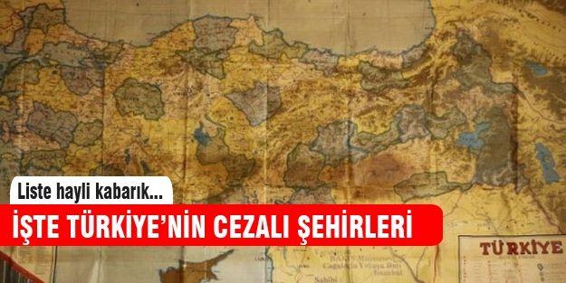 İşte Türkiye'nin cezalı şehirleri http://www.haberinadresi.com/
