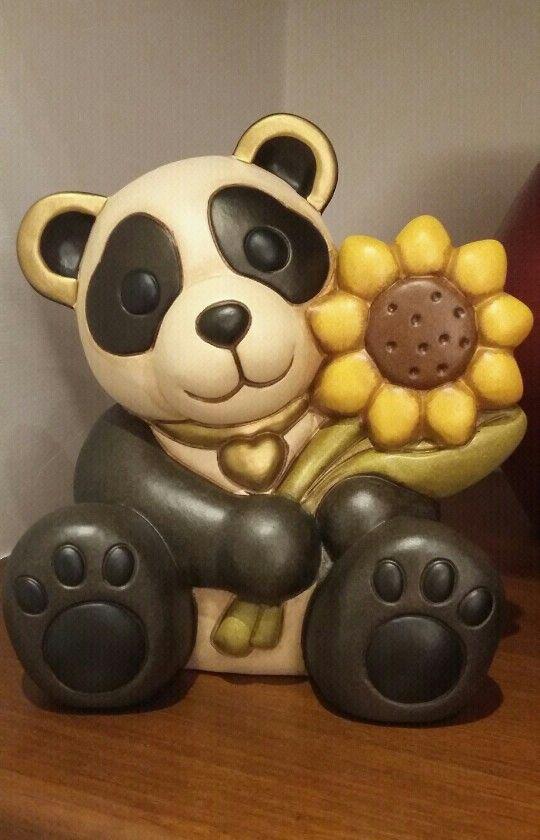 panda con girasole🐼