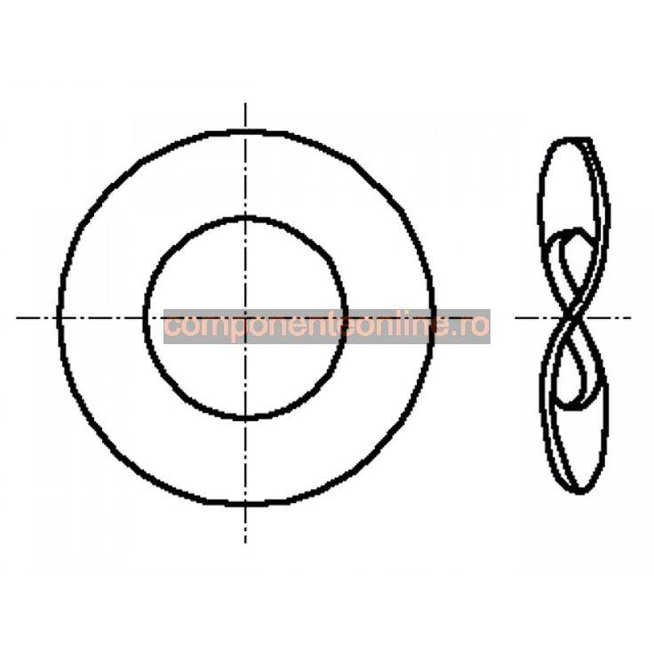 Saiba elastica, ondulata, 3,2x8mm, otel elastic, Bossard - 007259