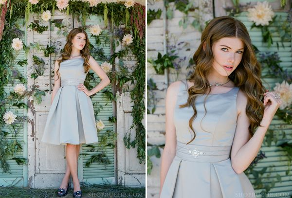 Modern Ruche Fall Autumn Bridesmaid Dresses | Trendy Bride Wedding Blog