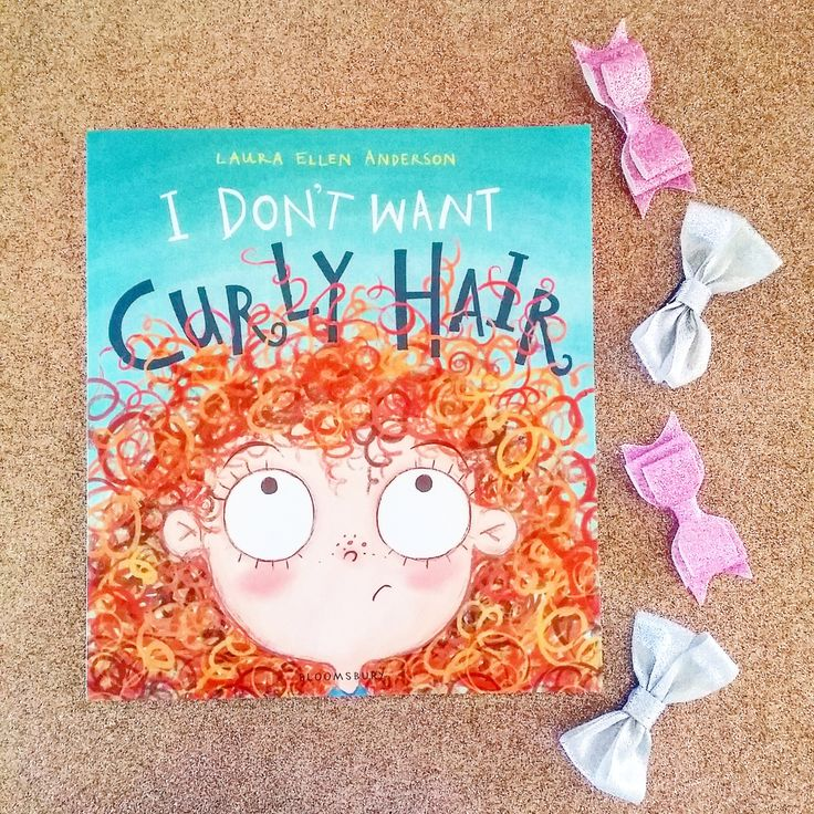 The young girl in this tale has a riot of spiral curls and they're a fabulous shade of auburn too. They look so fun. But she bemoans them with their knots and their frizz. There's fun onomatopoeia …
