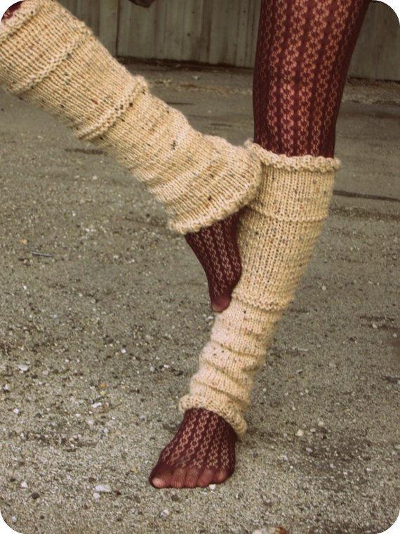 Leg Warmers Knit Leg Warmers Tan Leg Warmers by AutumnAndAmber, $49.00